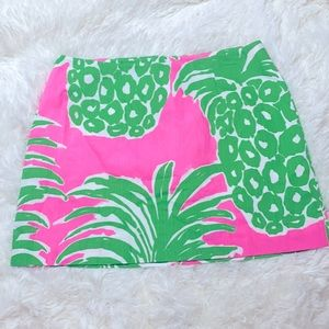 Lilly Pulitzer Pink Green Pineapple Skort Size 0